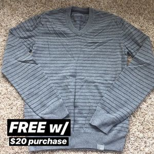 Aeropostale Gray and Black Striped Sweater